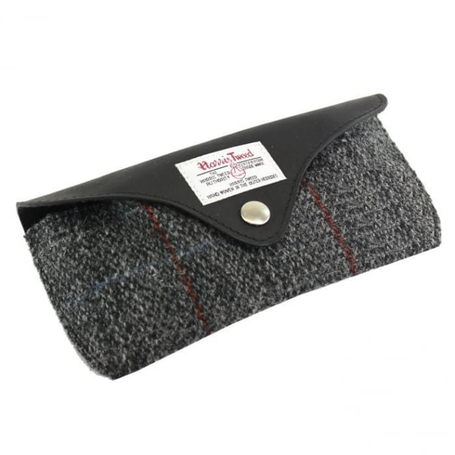 British Bag Company BERNERAY HARRIS TWEED GLASSES CASE