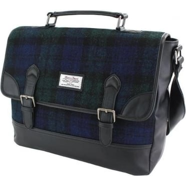 Black Watch Harris Tweed Briefcase