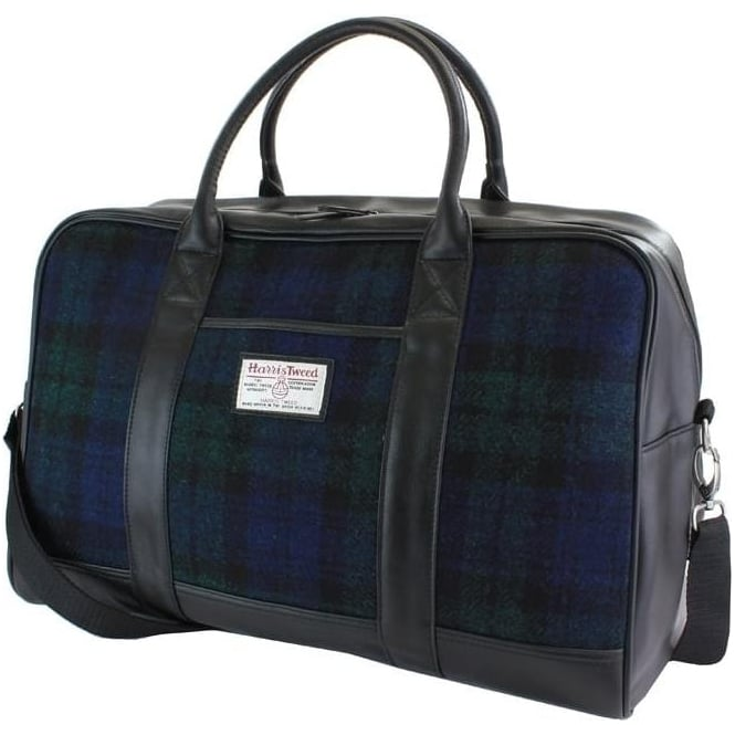 British Bag Company BLACK WATCH HARRIS TWEED HOLDALL