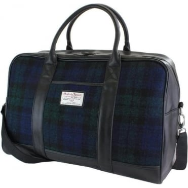 Black Watch Tartan Harris Tweed Holdall