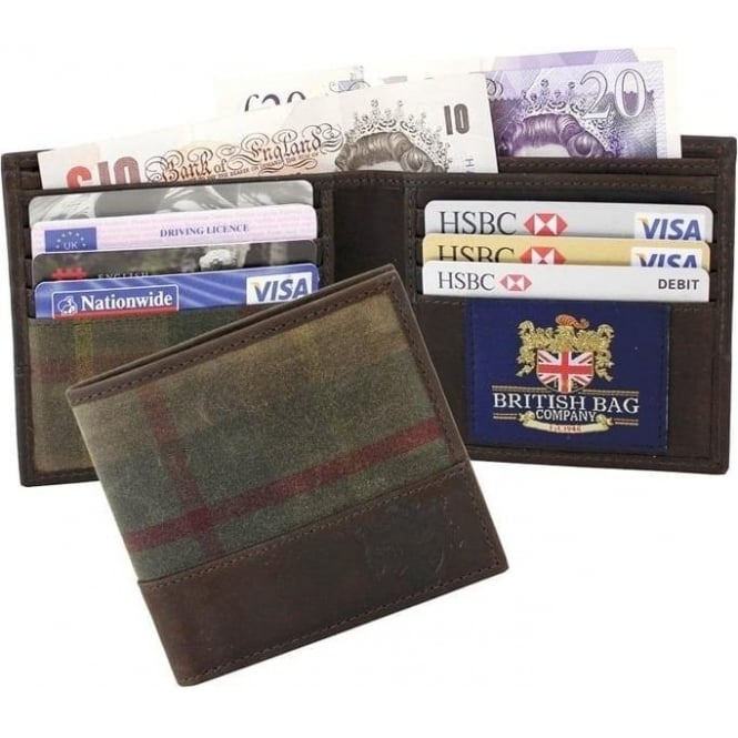 British Bag Company Green Millerain Wallet