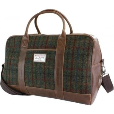 Harris Tweed Holdall Green/Red