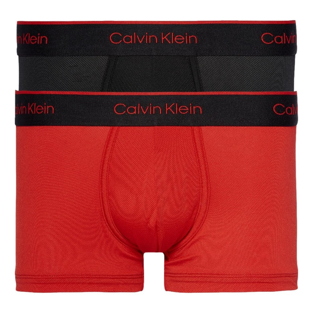 aec98066864 2 Pack Pro Air Low Rise Microfiber Low Rise Trunks - Black/Manic Red