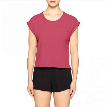 Cropped T-shirt Shift- Transpink