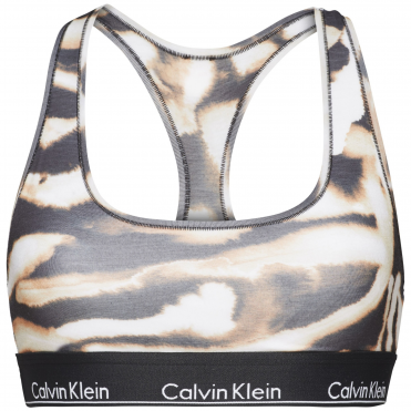 Modern Cotton Bralette - Water Colour Animal Bleach Out