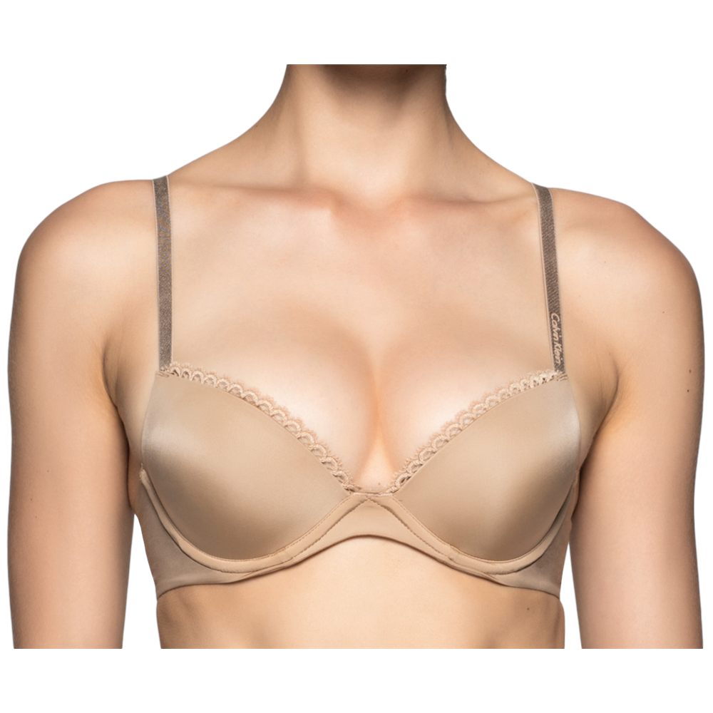 d15596e08f Calvin Klein Seductive Comfort Customized Lift Bra - Dune