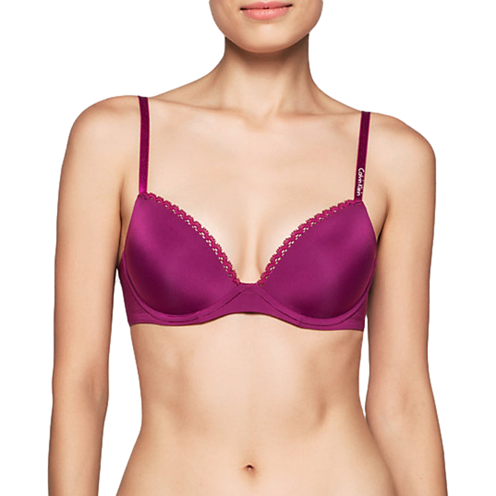 8a106da4fd CalvinKlein Seductive Comfort Customized Lift Bra- Fathom
