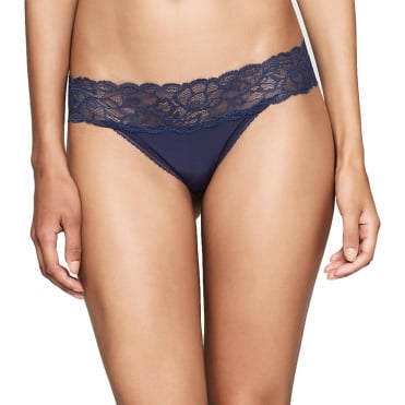 Seductive Comfort Thong - Coastal Blue/Navy