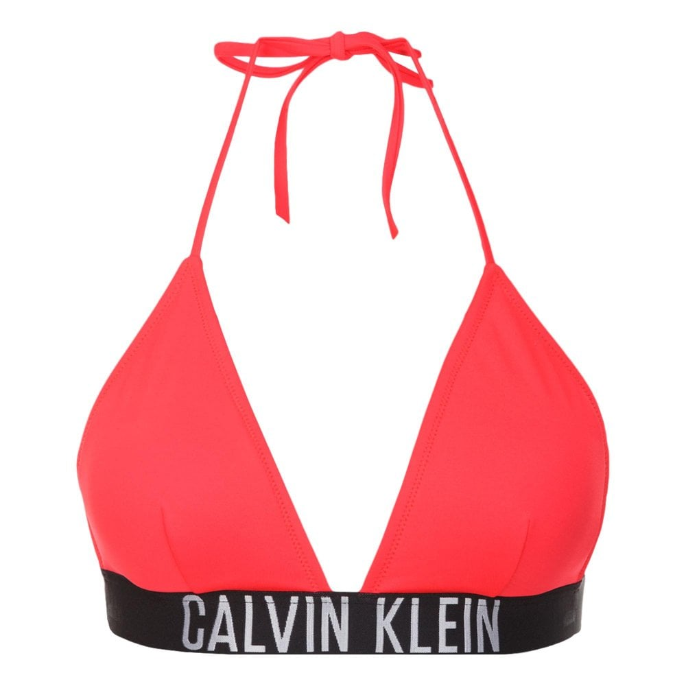 Calvin Klein Swim - Triangle Bikini Top Intense Power - Diva Pink ... d023b2fed