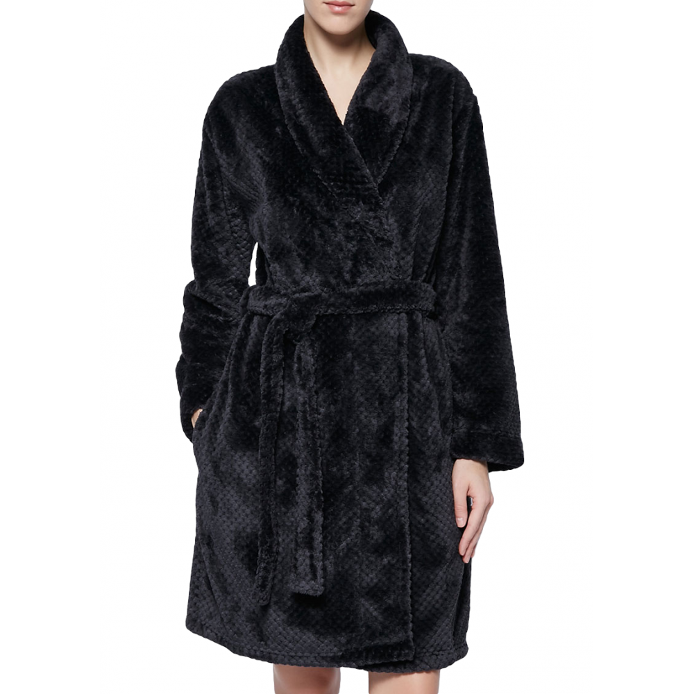 Calvin Klein Womens Fluffy Black Mix