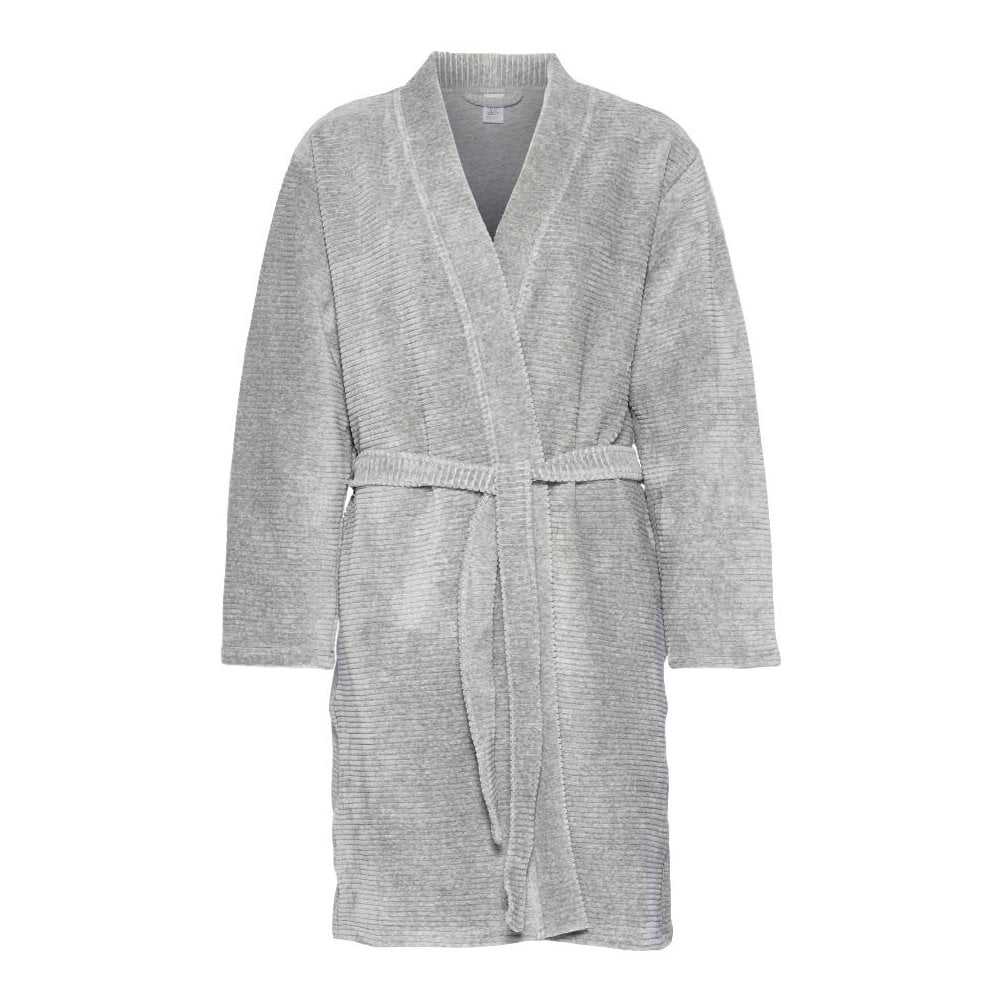 Calvin Klein Womens Quilted Robe Grey Heather