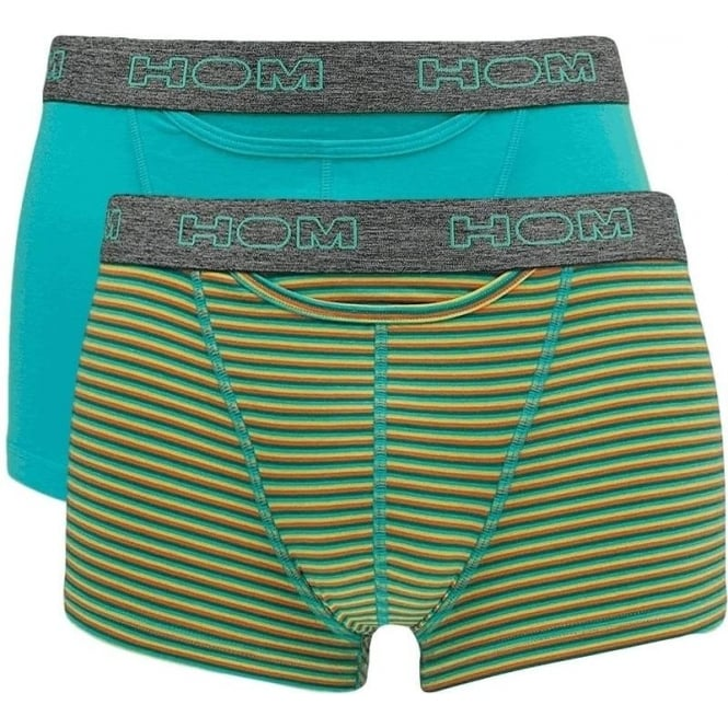 HOM 2 Pack HO1 Boxerline Boxer Brief - Turquoise/Multi