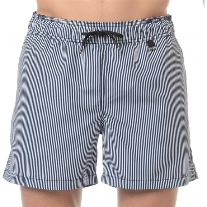 HOM Beach Boxer Luxe Striped Swimming Trunk