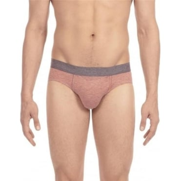 Simon Striped HO1 Mini Brief - Orange