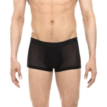 Temptation Structure Boxer Trunk - Black