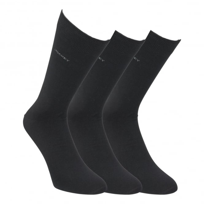 Jockey 3 Pack Cotton Rich Business Sock - Black