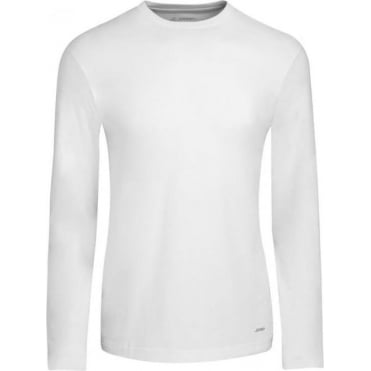 American Long Sleeve T-Shirt White