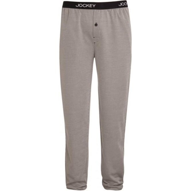 Jockey Grey Striped Long Lounge Bottoms