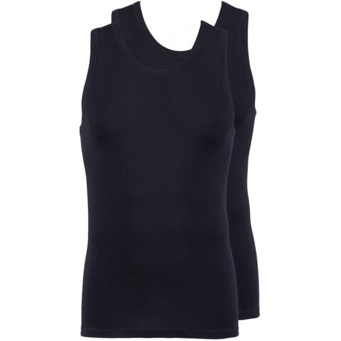 Jockey Modern Classic Athletic Vest Top 2-Pack Black