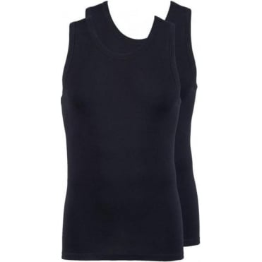 Modern Classic Athletic Vest Top 2-Pack Black