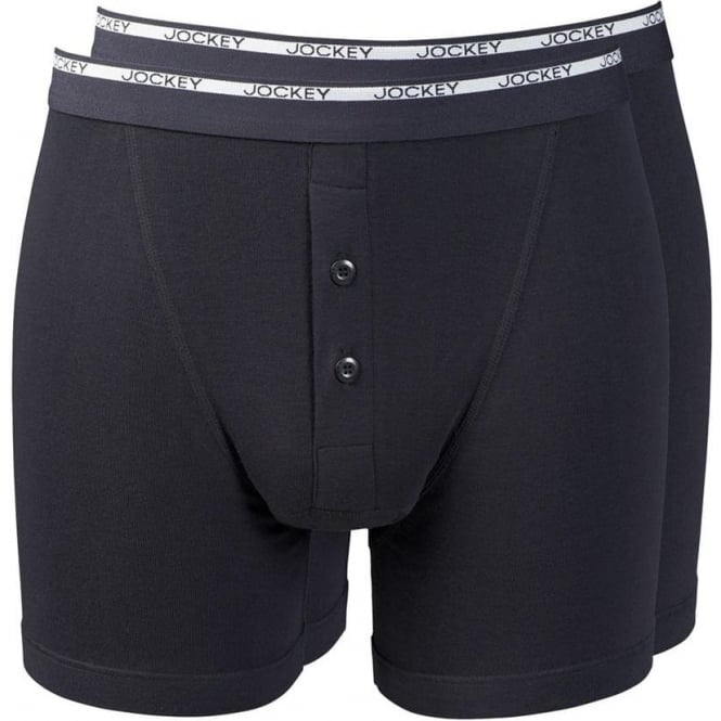 Jockey Modern Classic Boxer Trunk 2-Pack Black