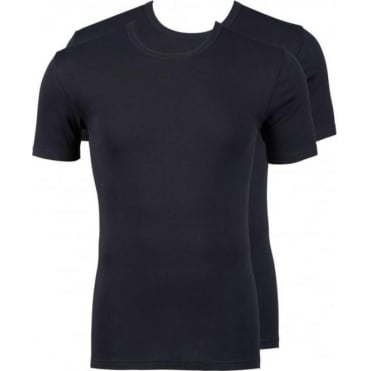 Modern Classic Round Neck T-Shirt 2-Pack Black