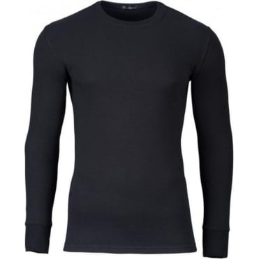 Modern Long Sleeve Thermal T-Shirt Black