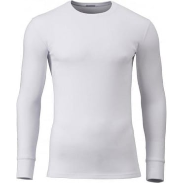 Modern Long Sleeve Thermal T-Shirt White