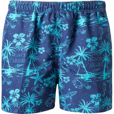 Paradise Beach Print Swim Shorts