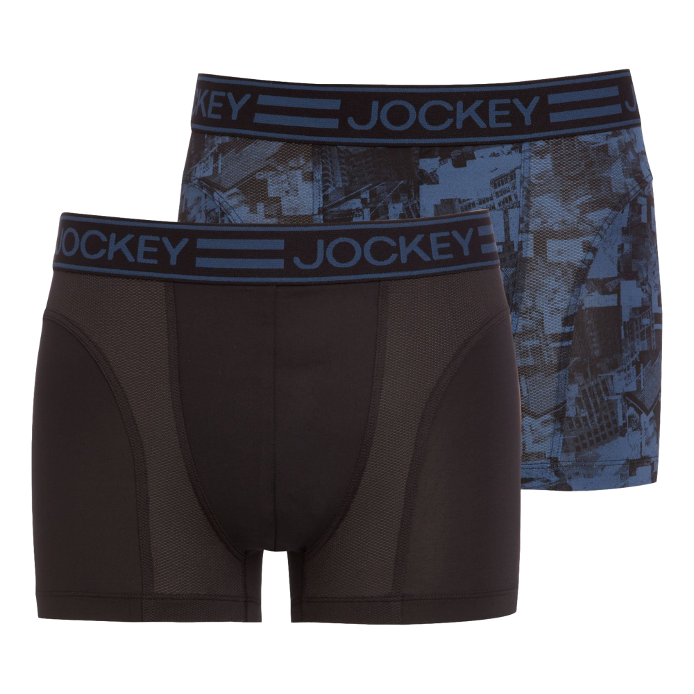 big selection of 2019 fair price amazing selection Jockey Sport Microfiber Active Trunk 2-Pack Star Blue