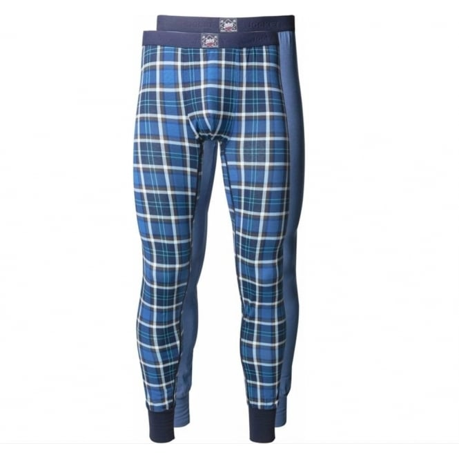 Jockey Striped/Plain 2 Pack Long Pant