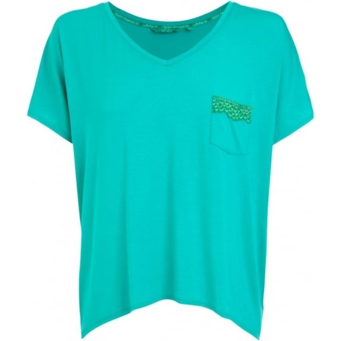 Jockey Women Oversized Melon Green T-Shirt