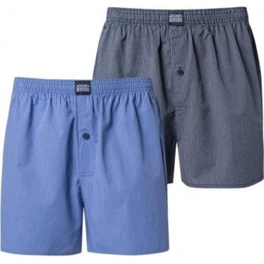 Woven Boxer Star Blue 2 Pack