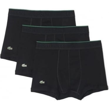 Essentials Collection 3 Pack Supima Cotton Trunk - Black