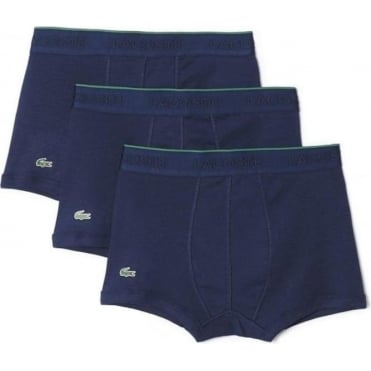 Essentials Collection 3 Pack Supima Cotton Trunk - Navy
