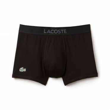 Micro Pique L.12.12 Cotton Modal Stretch Boxer Brief - Black