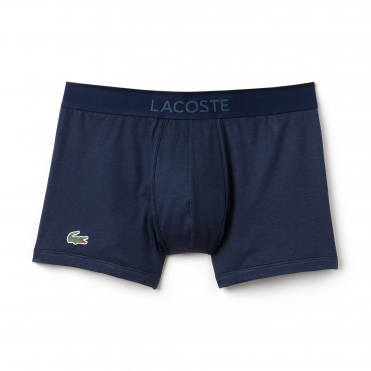 Micro Pique L.12.12 Cotton Modal Stretch Boxer Brief - Navy