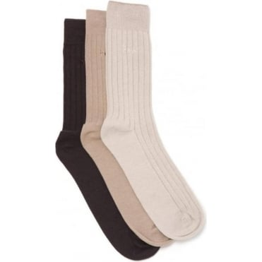 Laird Socks 3 Pack Beige Mix