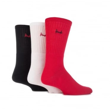 Sports Socks 3 Pack Assorted