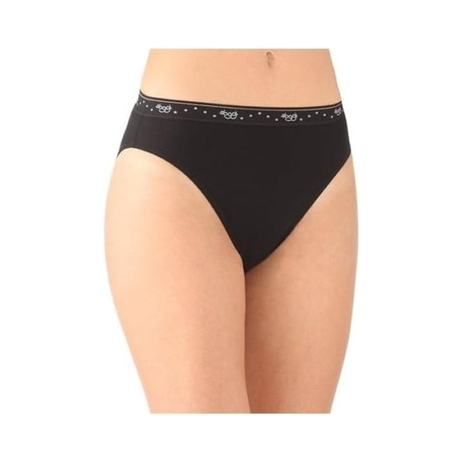 Sloggi 100 Tai Brief 3 Pack Black