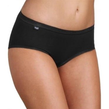Basic Midi Brief Black 4 Pack