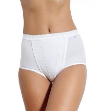 Control Maxi Brief 2 Pack White
