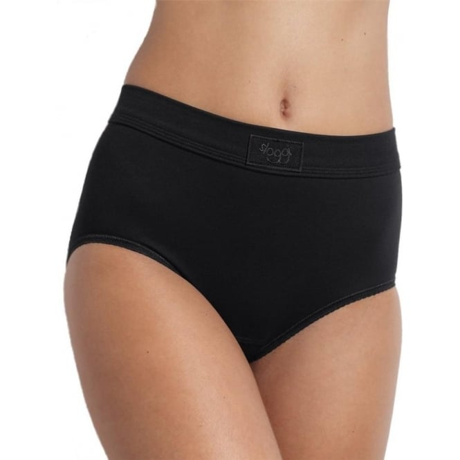 Sloggi Double Comfort Maxi Brief Black