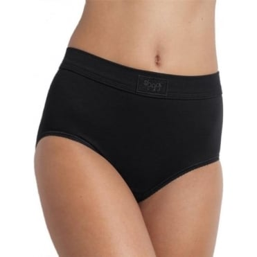 Double Comfort Maxi Brief Black