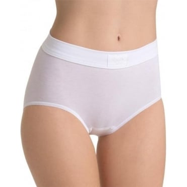Double Comfort Maxi Brief White