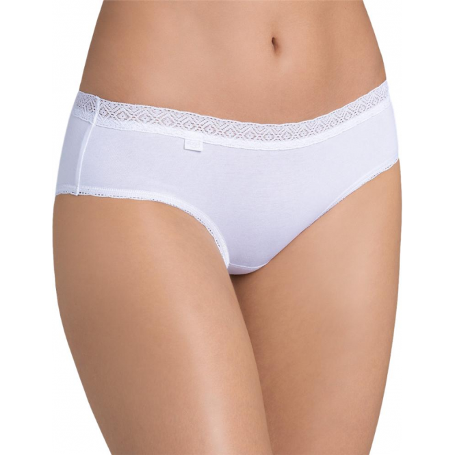 Sloggi Evernew Lace Hipster Brief - White