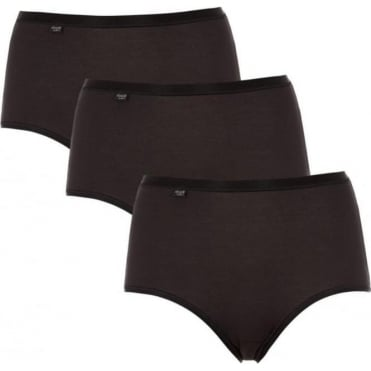 Feel Natural Maxi Brief 3 Pack Black