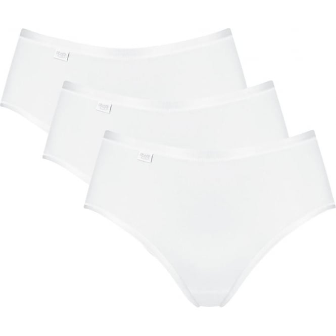 Sloggi Feel Natural Midi Brief 3 Pack White