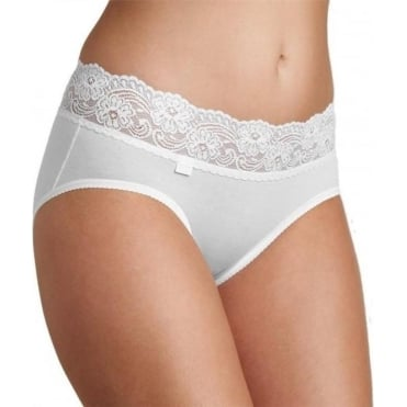 Romance Midi Brief White