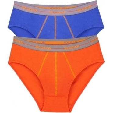 Start Midi Brief 2 Pack Orange/Blue
